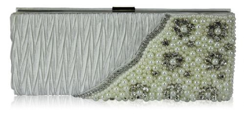 Elaine Ivory beaded  Clutch Bag